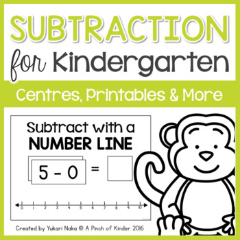 Subtraction for Kindergarten: Centres, Printables & More