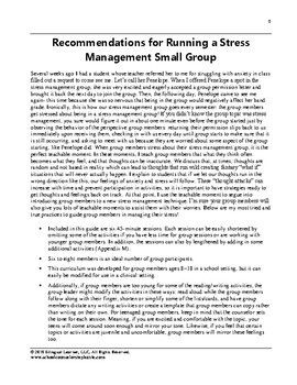 Stress Management Group Counseling Guide for Distance Learning