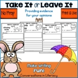 April Writing Activities Take It or Leave It