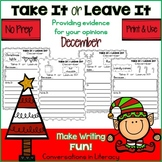 December Writing Activities Take It or Leave It