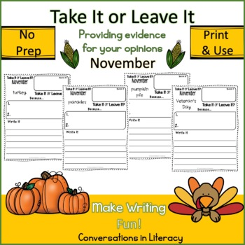 Take It or Leave It November Edition Providing Evidence in