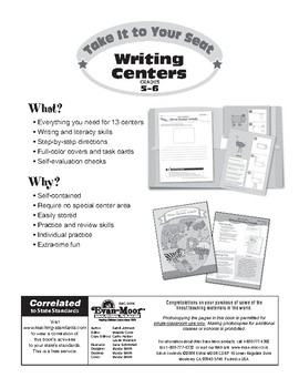 Take It to Your Seat Writing Centers, Grades 5-6