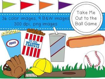 Take Me Out to the Ball Game - Baseball Clipart