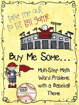 Take Me Out to the Ballgame! Baseball Themed Word Problem Task Cards