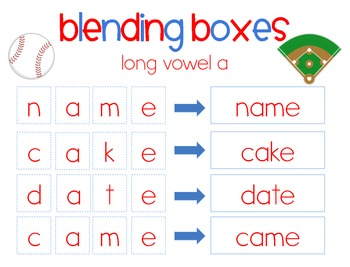 Take Me Out to the Ballgame {Long vowel a a_e} Word Work