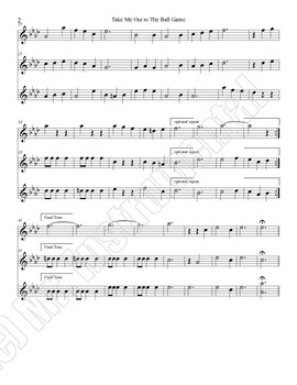 Take Me Out to the Ballgame - Trio Arrangement for Band Instruments BUNDLE