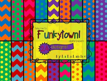 Take Me To Funkytown! Digital Paper Bundle