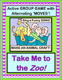 """Take Me To The Zoo!"" - Group Game and Craft with Animal Action!"