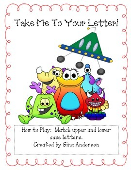 Take Me To Your Letter! upper and lower case letters