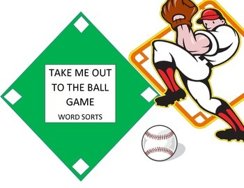 Take Me out to the Ball Game word sorts