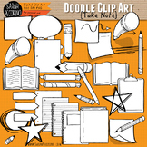 Take Note Doodle Clip Art Collection