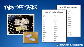 Take Off Tasks: Antonyms