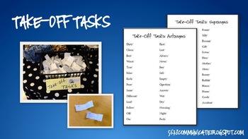 Take Off Tasks: Synonyms