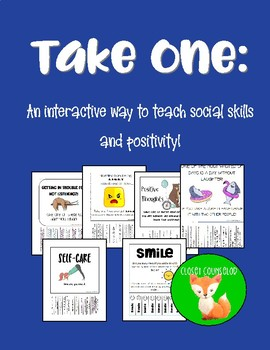Take One: An interactive way to teach kindness, cheer and social skills