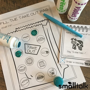Take Out Topics Jr. for Early Sound Articulation Carryover BUNDLE