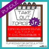 Take Out Topics Jr. Articulation/Language Carryover BUNDLE