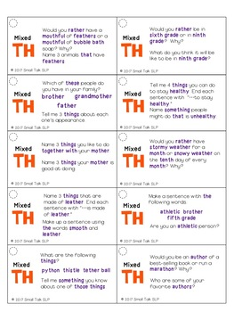 Take Out Topics for Articulation Carryover - TH