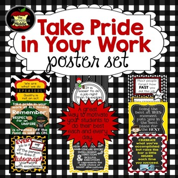 Take Pride in Your Work Poster Set