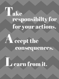Take Responsibility for Your Actions Poster