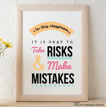 Take Risks & Make Mistakes - Bulletin Board Poster (8.5x11 or 11x17)