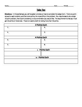 Take Ten - Blank Template - EDITABLE