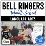 ELA Bell Ringers for Middle School   YEAR LONG   Distance
