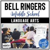 ELA Bell Ringers for Middle School   Month 1   Distance Learning