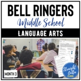 Bell Ringers for Language Arts MONTH 3