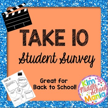 Take Ten-Student Survey Great for Back to School