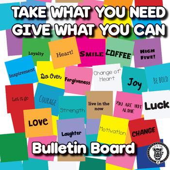 Take What You Need Bulletin Board