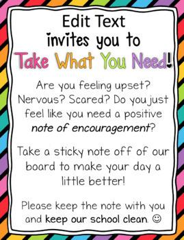 Take What You Need Bulletin Board Set