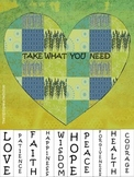 Take What You Need Inspirational Poster