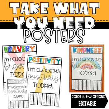 Take What You Need Posters