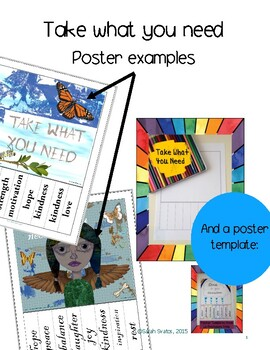 Take What You Need Posters and Template, English or Foreig