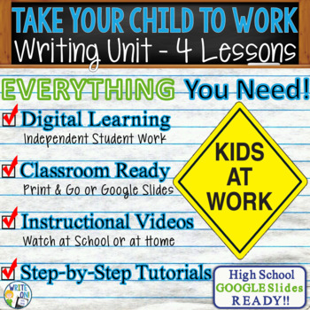 Take Your Child to Work Writing BUNDLE! Argument Persuasive Expository Narrative