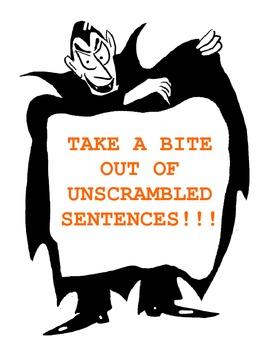 Take a Bite Out of Unscrambled Sentences