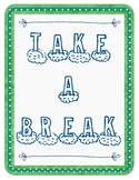 Take a Break & Identifying Feelings: Posters, Activities, Reflection Sheet