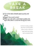 Take a Break Mountain Outdoor Theme
