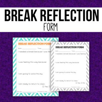 Take a Break Reflection Form