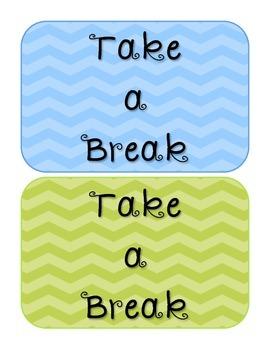 """""""Take a Break"""" Resources"""