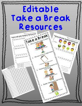 Take a Break Resources EDITABLE
