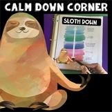 Take a Break Spot or Calm Down Corner Sloth Theme