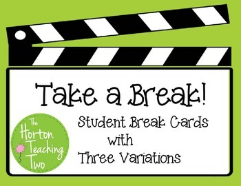 image regarding Break Cards for Students Printable called Consider a Crack! Pupil Split Playing cards