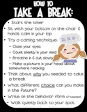 Take a Break / Thinking Chair Poster - Responsive Classroom Character Education