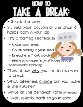 Take A Break Thinking Chair Poster Responsive