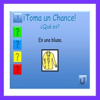 Take a Chance - Clothing - Spanish PowerPoint Game