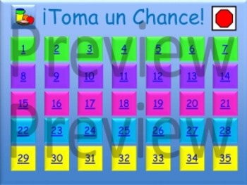 Take a Chance - Food - Spanish PowerPoint Game