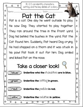 Take a Closer Look: Close Reading for First Grade (FREEBIE ...