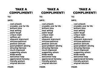 Take a Compliment!