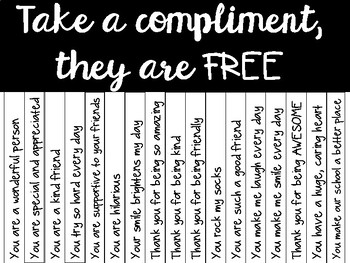 Take a Compliment Display *FREEBIE*